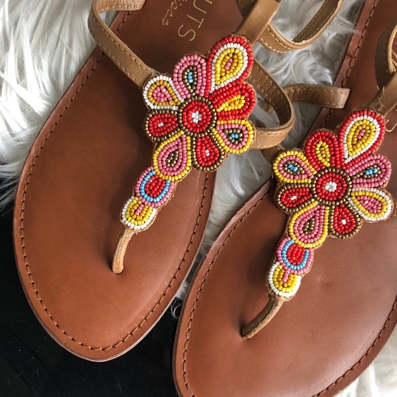 e2f2184850b COCONUTS by MATISSE Beaded Flip Flop Size 8 NWOB